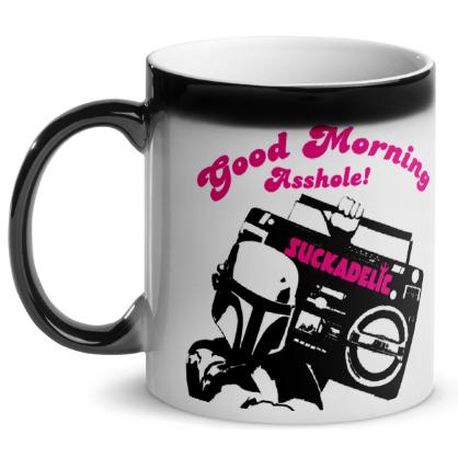 Discordia Culture Shop SUCKADELIC Good Morning Asshole Coffee Mugs SUCKDELIC-GMA-REGULARASS-MUGS