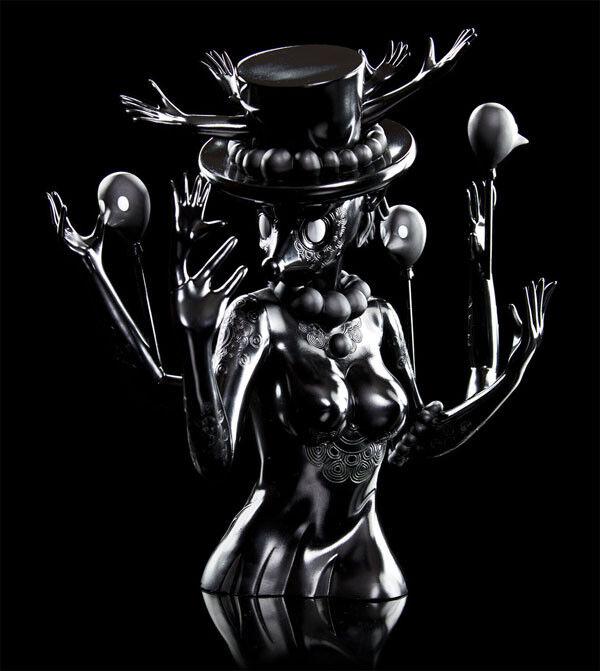 Discordia Culture Shop Kidrobot Black - Blueberry - by Yury Ustshinau KRB-Blueberry
