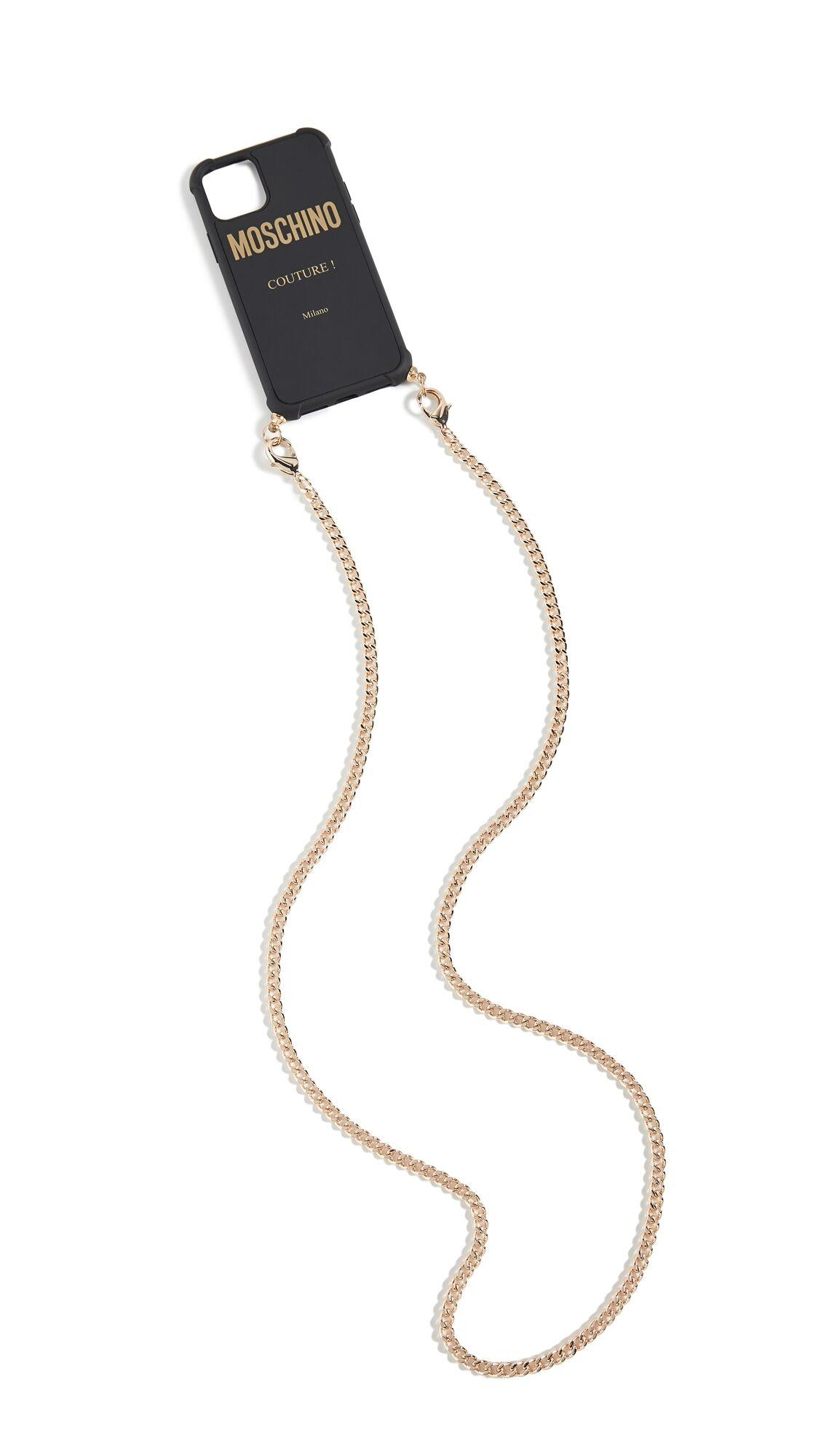 Moschino Logo Phone Case - Black - Size: One Size