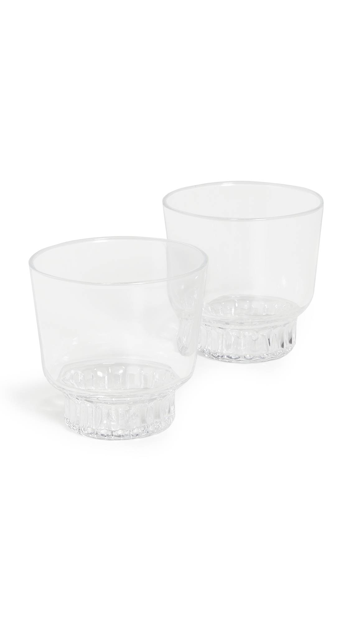 Areaware Ridge Kitchen Glasses Set Of 2 - Clear - Size: One Size