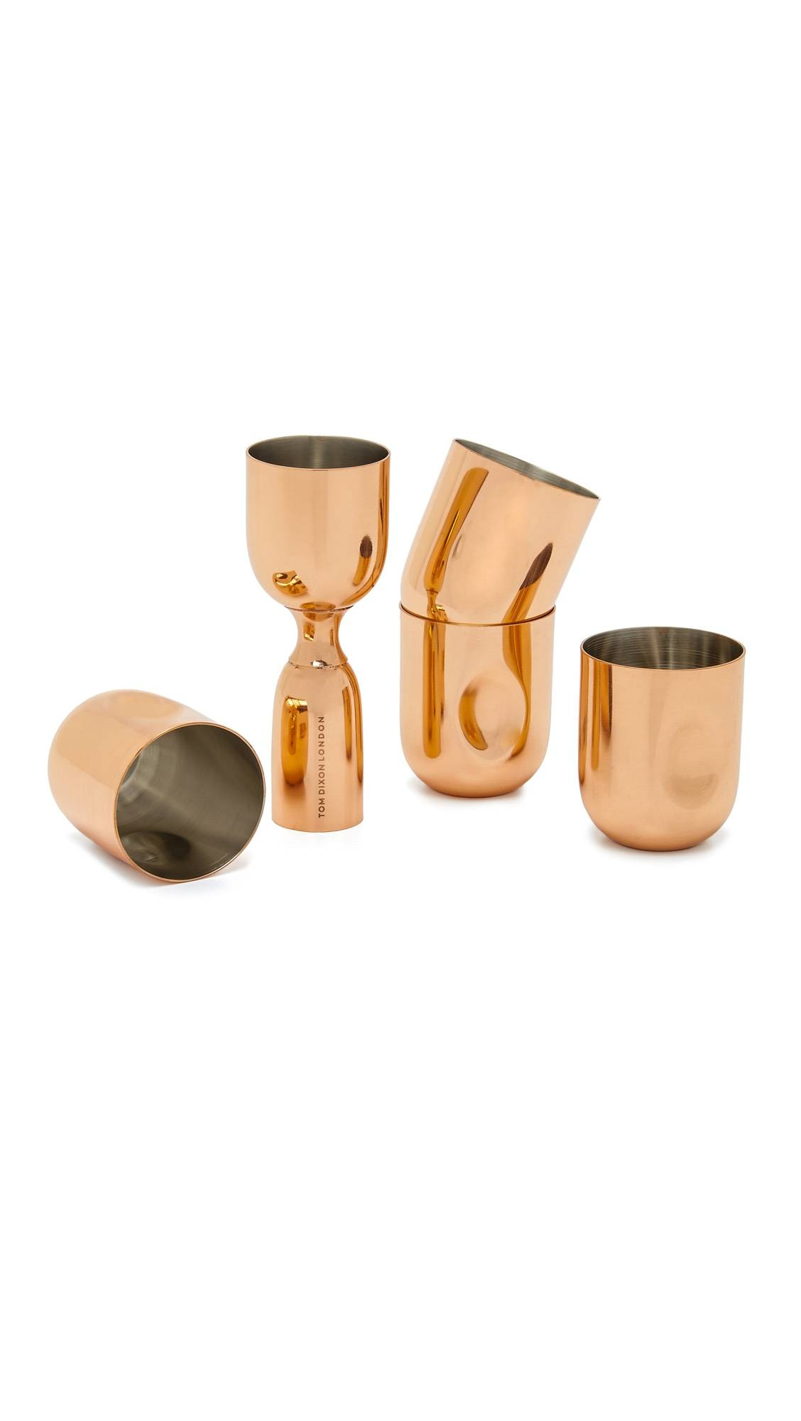 Tom Dixon Plum Shot Glasses & Measure Gift Set - Copper - Size: One Size