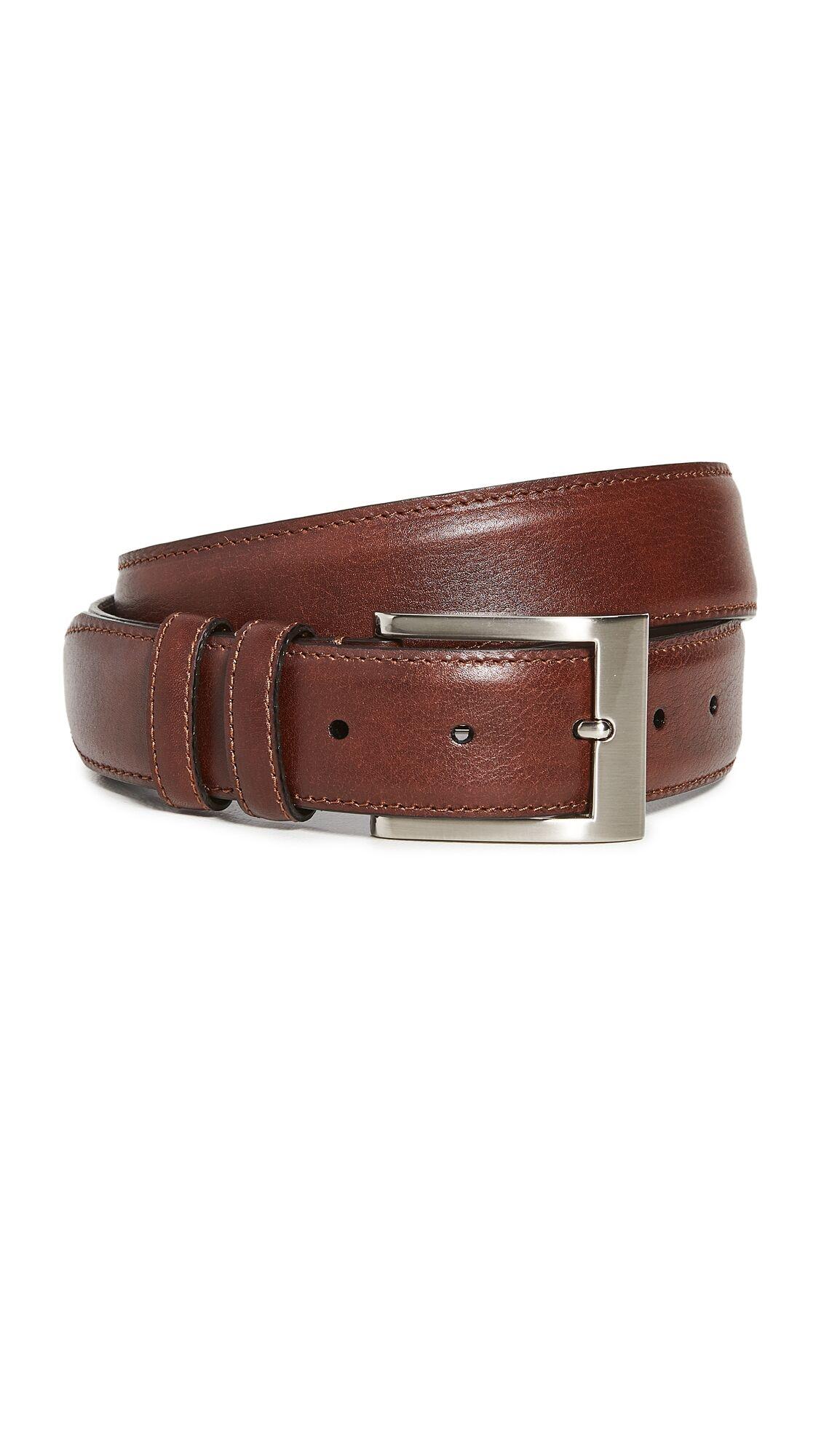 Allen Edmonds Wide Basic Belt - Chili - Size: 42