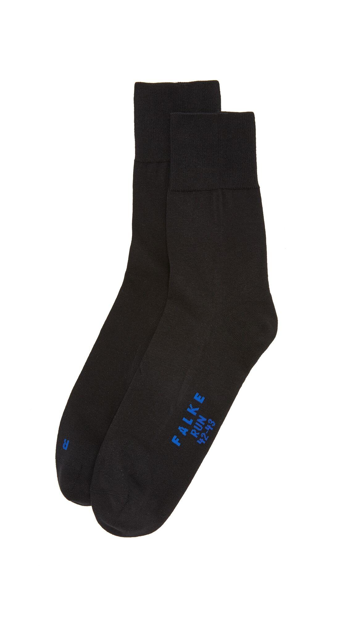 Falke Run Cotton Blend Socks - Black - Size: 39-41