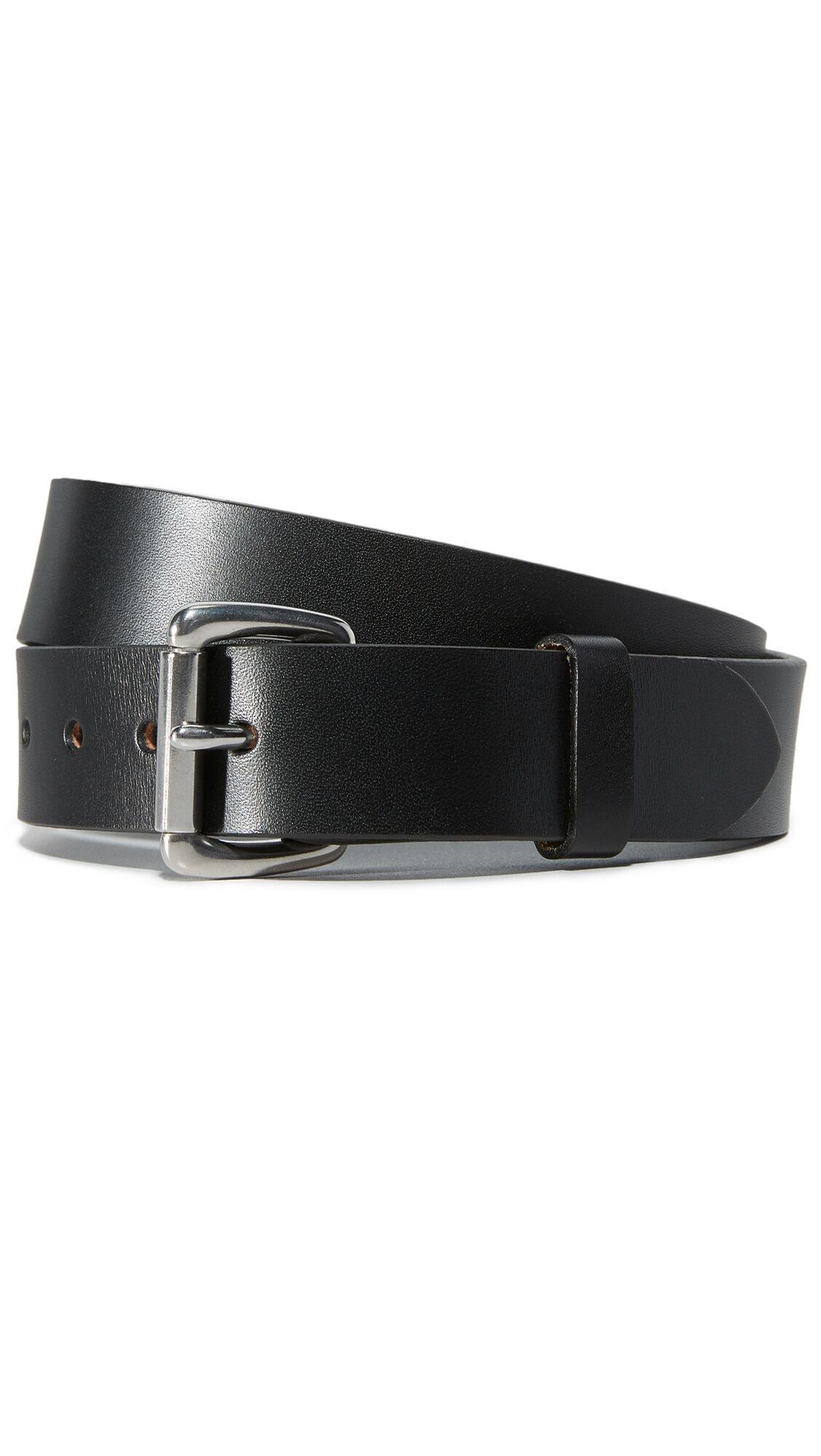Filson Bridle Leather Belt - Black - Size: 30