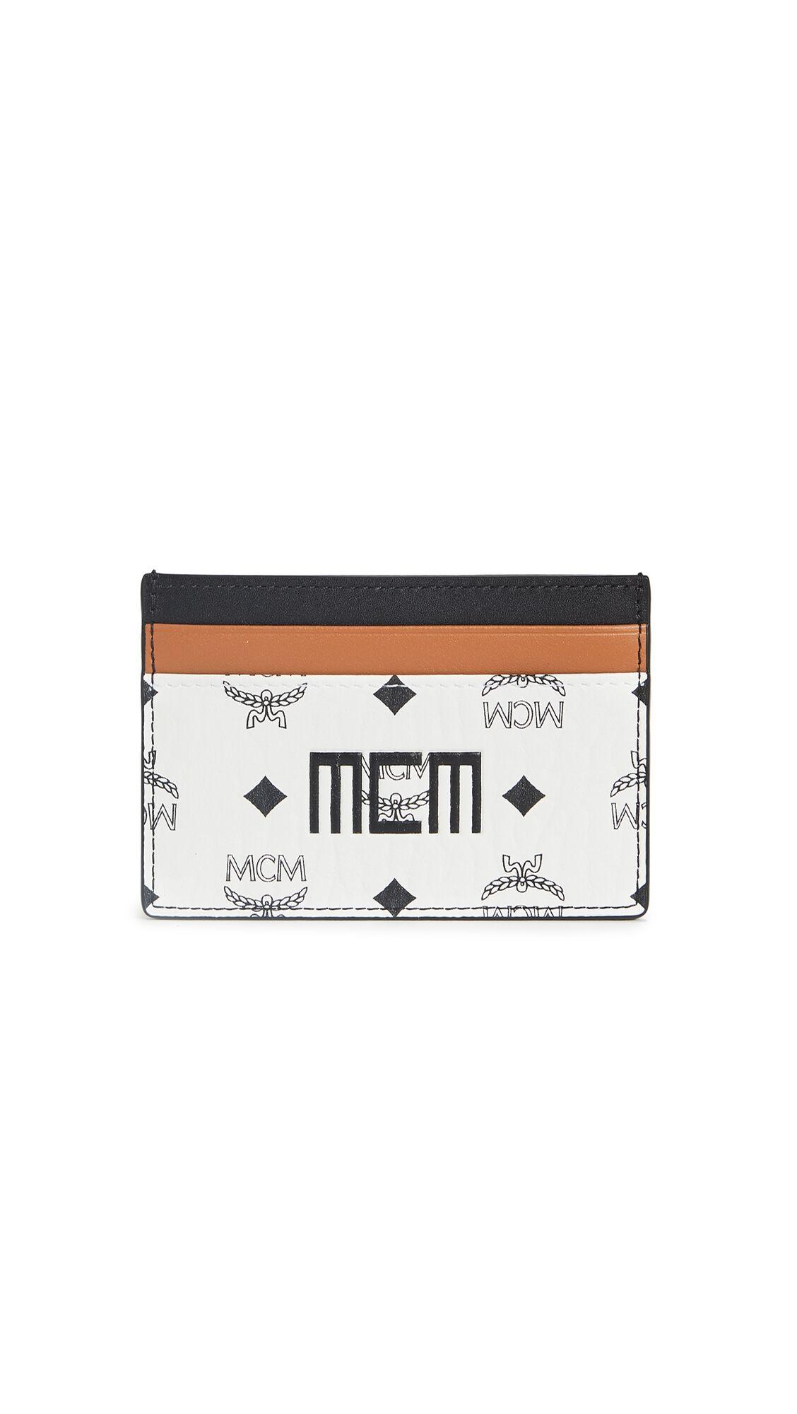 MCM Visetos Mix Card Case Mini - White - Size: One Size