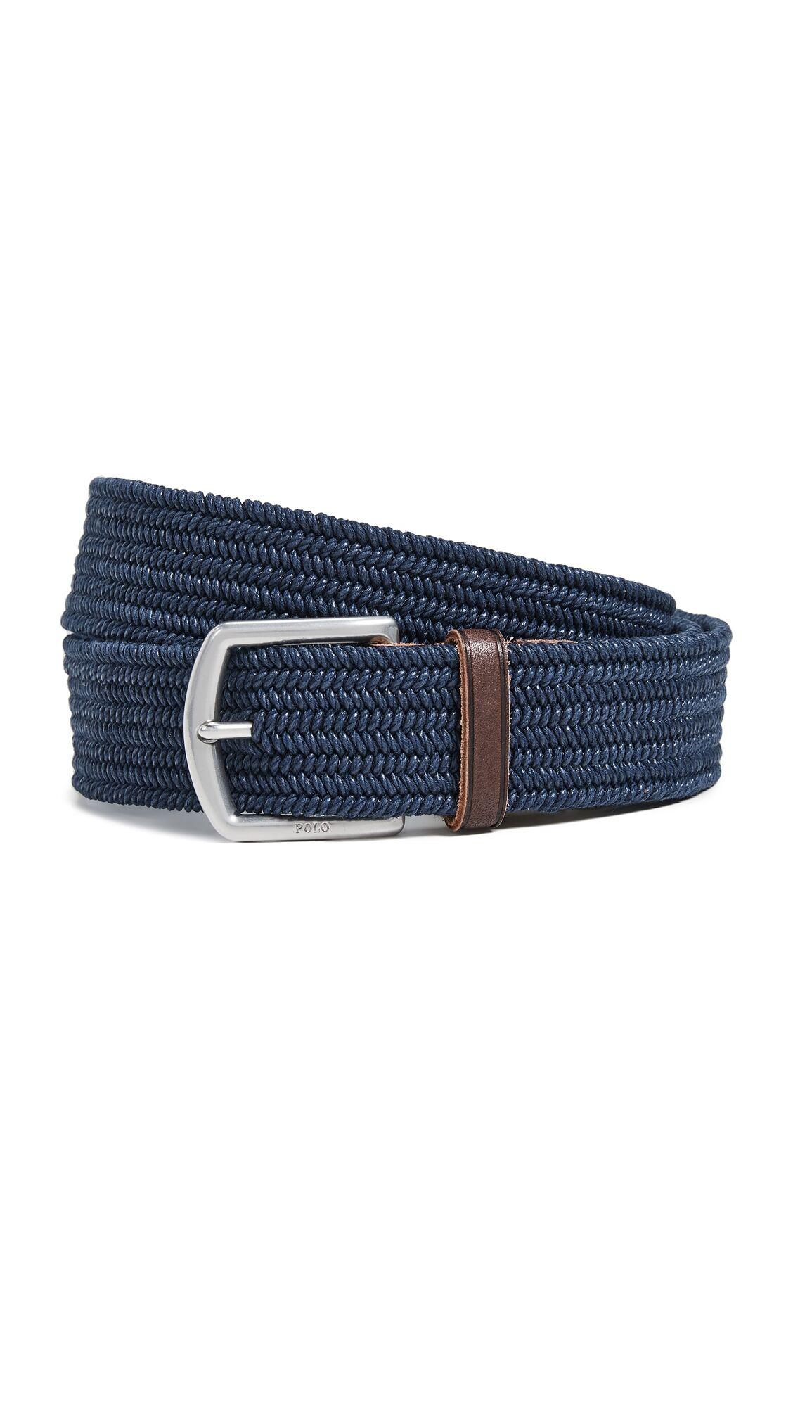 Ralph Lauren Polo Ralph Lauren 34mm Braided Stretch Belt - Navy - Size: XL