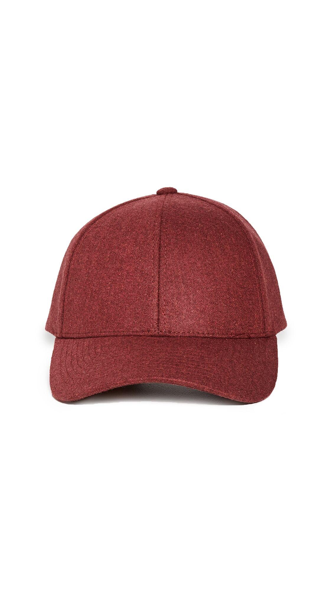 Varsity Headwear Wool Baseball Cap - Red - Size: S