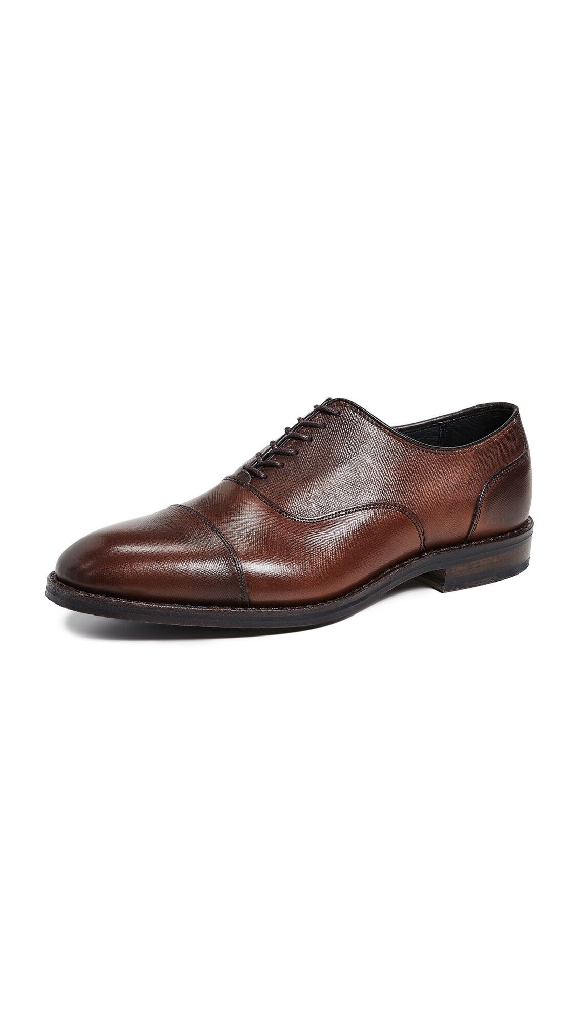 Allen Edmonds Bond Street Cap Toe Shoes - Brown - Size: 9