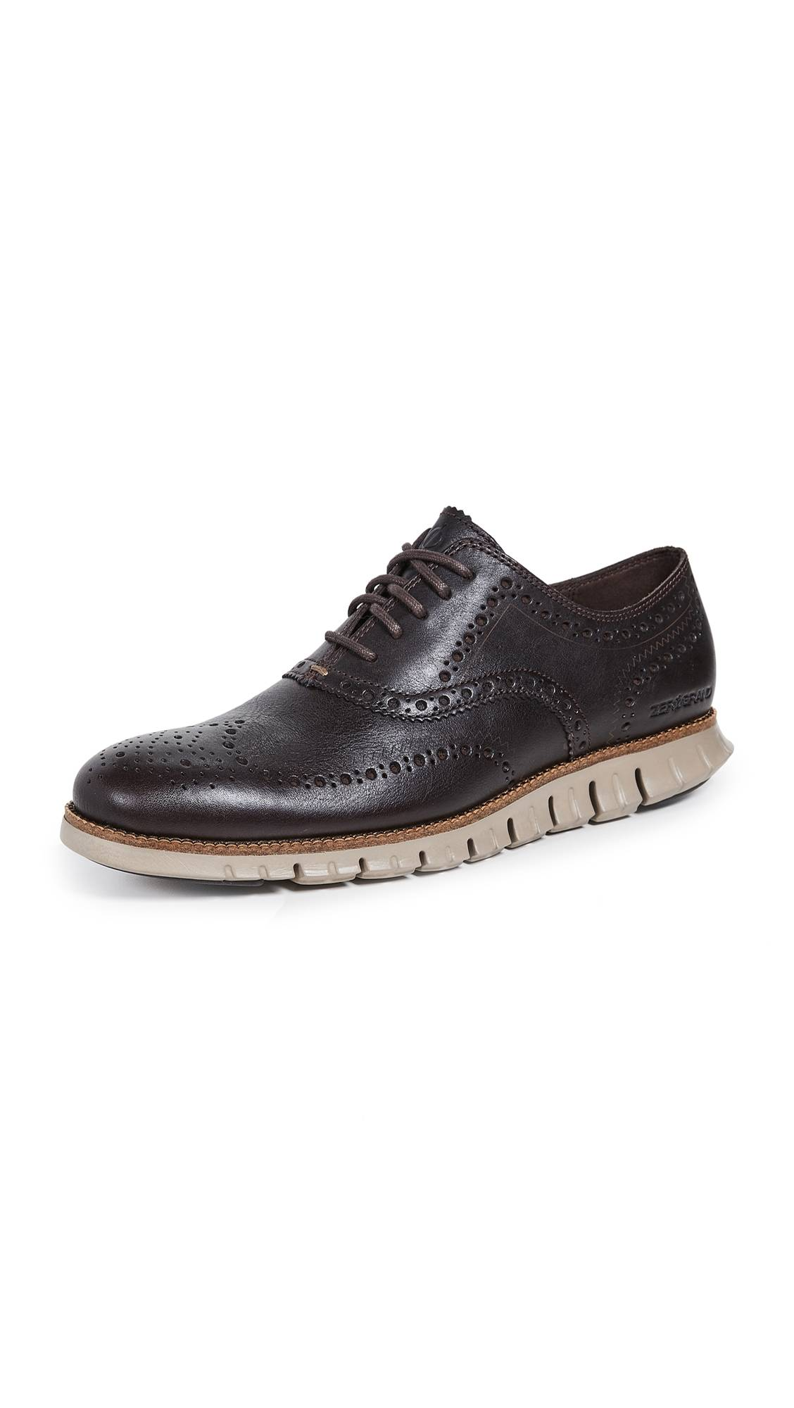 Cole Haan ZeroGrand Wingtip Oxford Shoes - Java - Size: 13