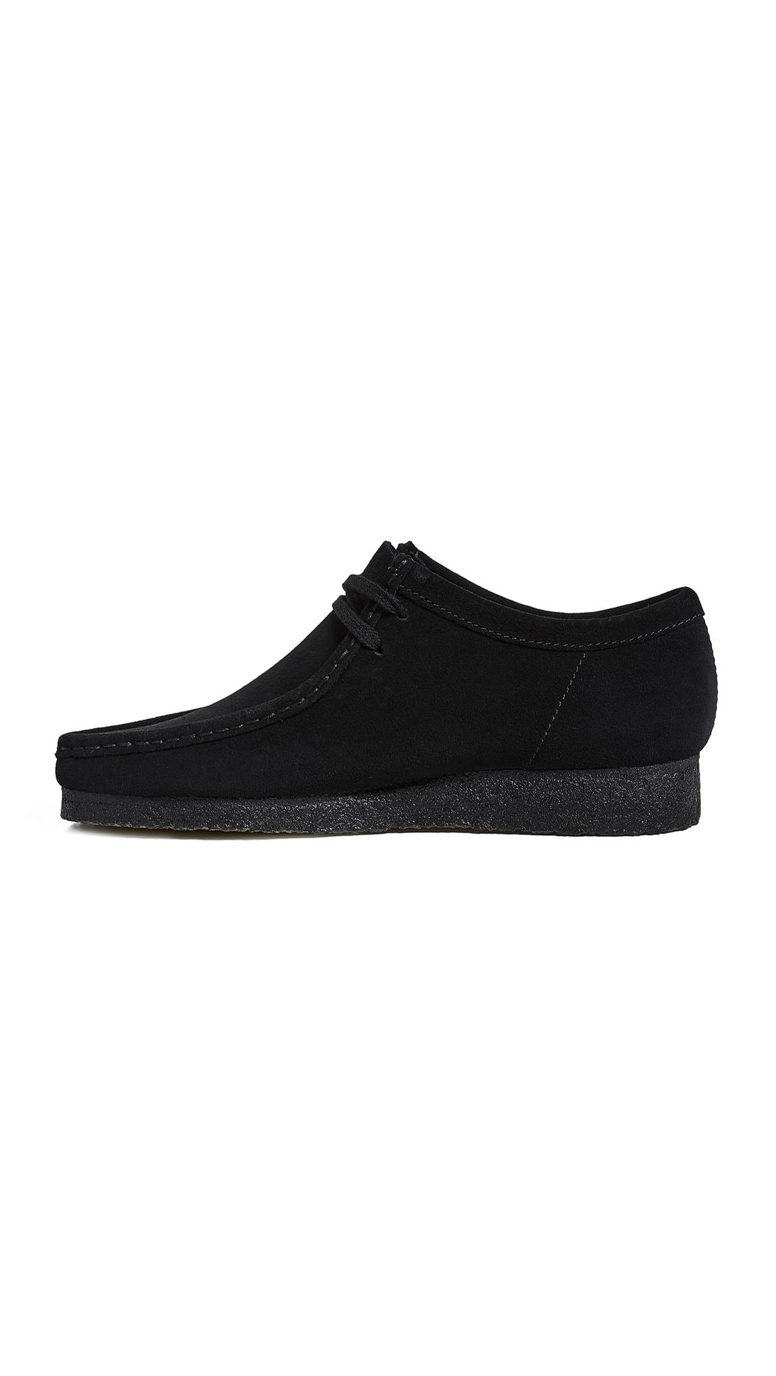 Clarks Suede Wallabee Shoes - Black - Size: 8.5