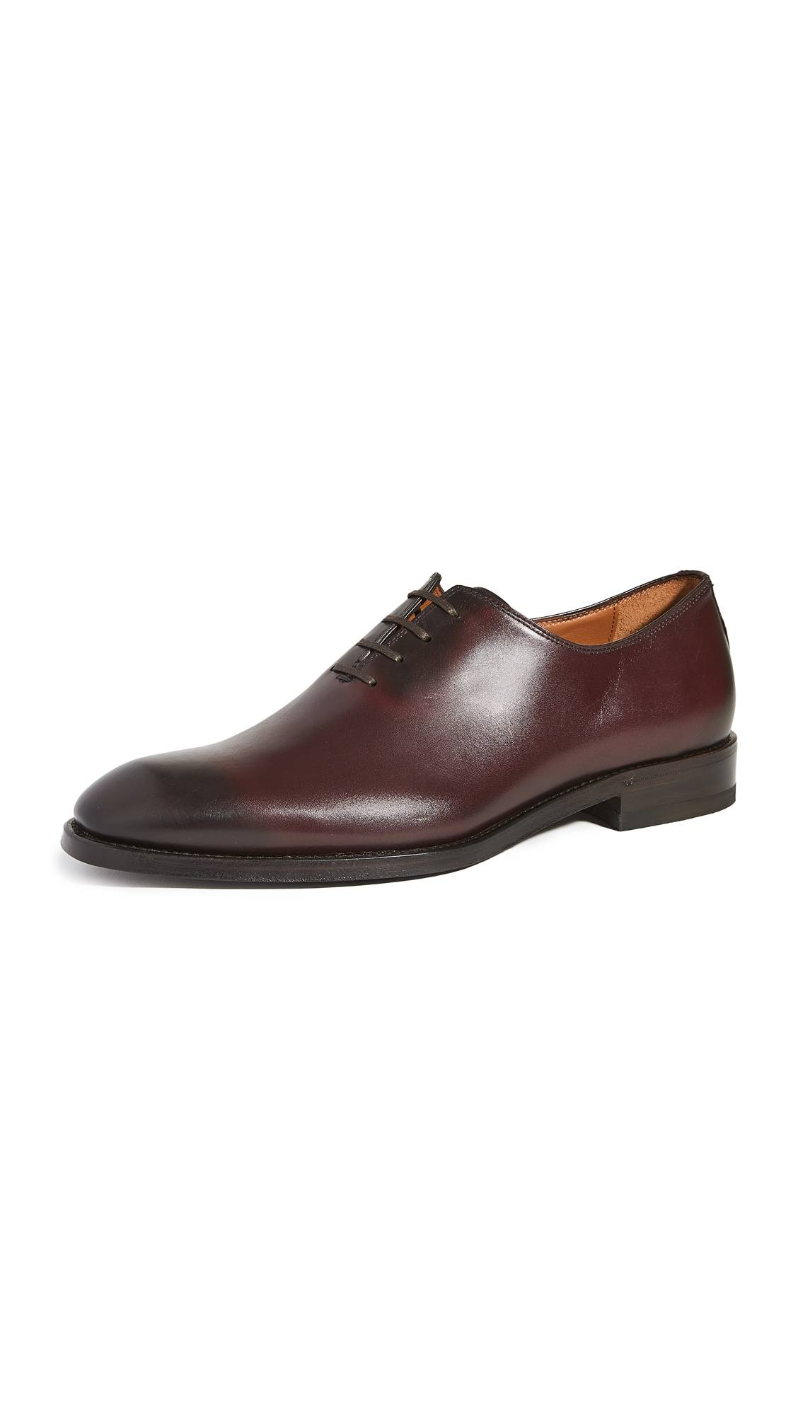 Paul Stuart Lorenzo Lace Up Oxford Shoes - Bordo - Size: 9