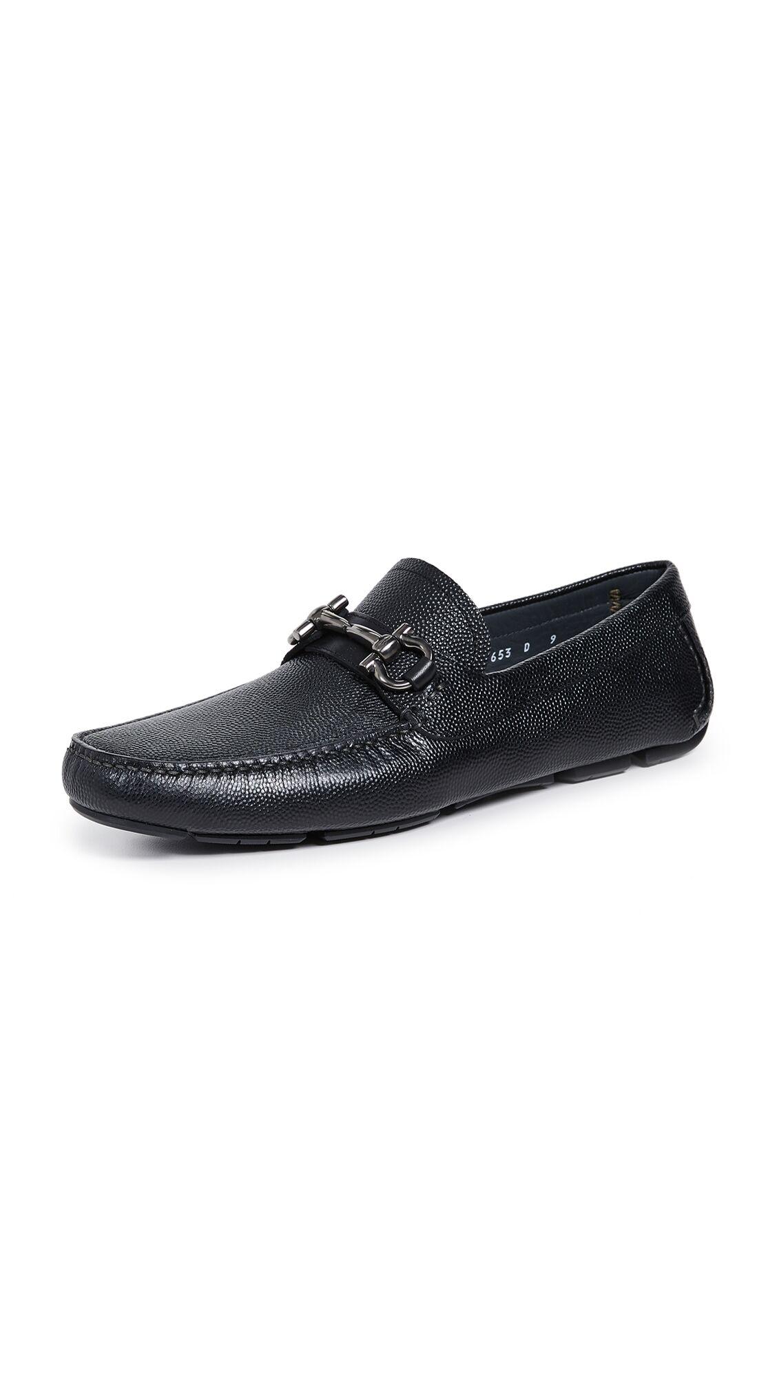 Salvatore Ferragamo Parigi Bit Driver Shoes - Black - Size: 9.5 D