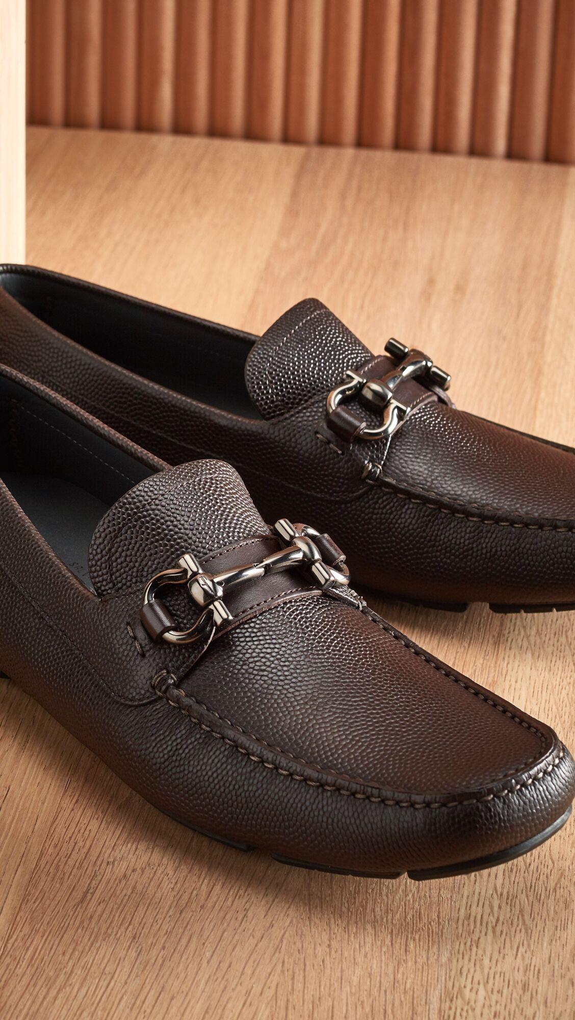 Salvatore Ferragamo Parigi Bit Driver Shoes - Hickory - Size: 8.5 D