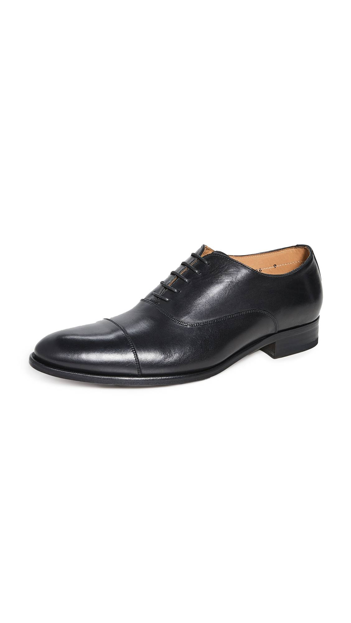 To Boot New York Forley Flex Black Cap Toe Shoes - Butter Nero Luc - Size: 12
