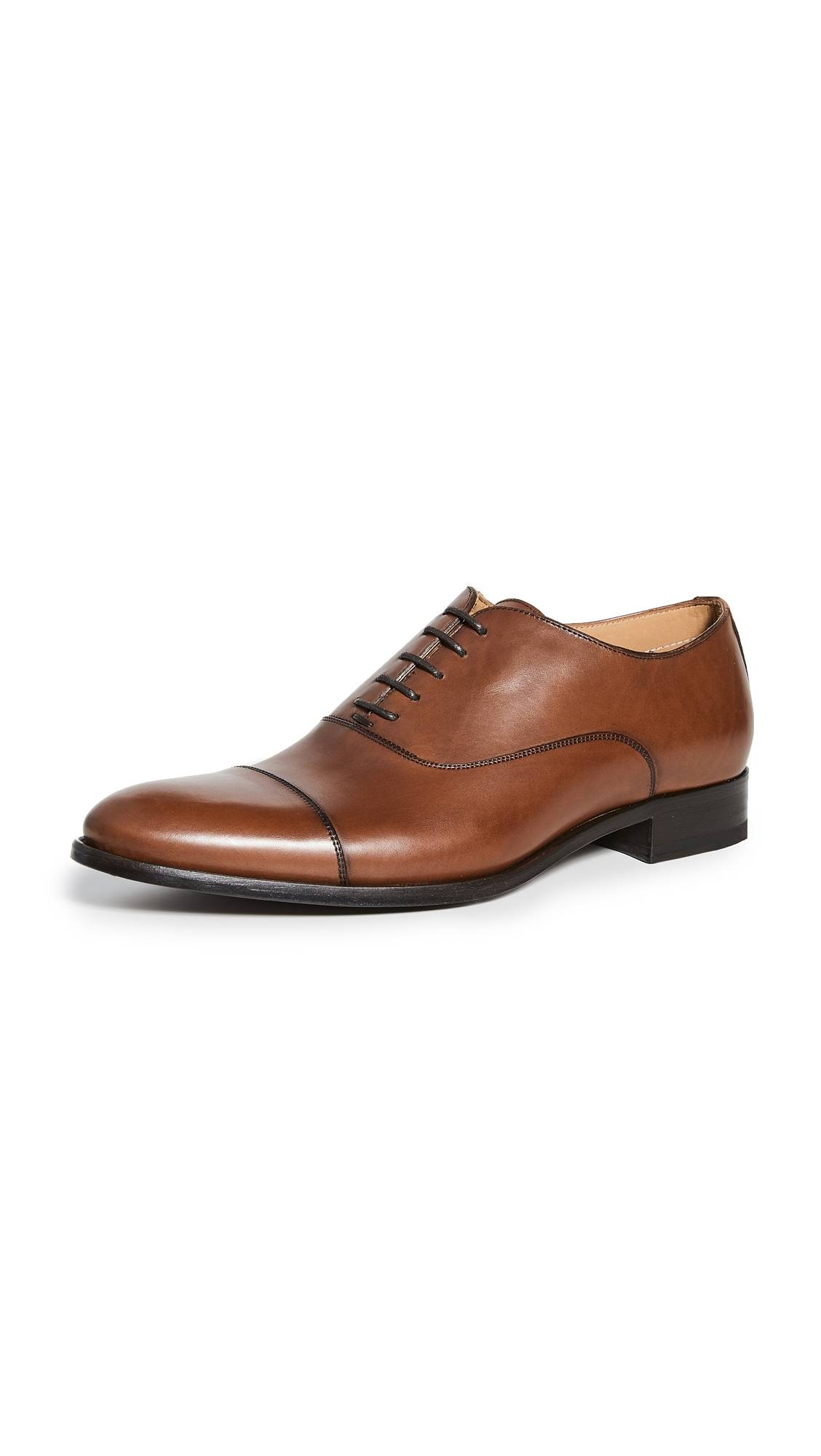 To Boot New York Forley Flex Tan Cap Toe Shoes - Butter Cuoio Luc Ant - Size: 8