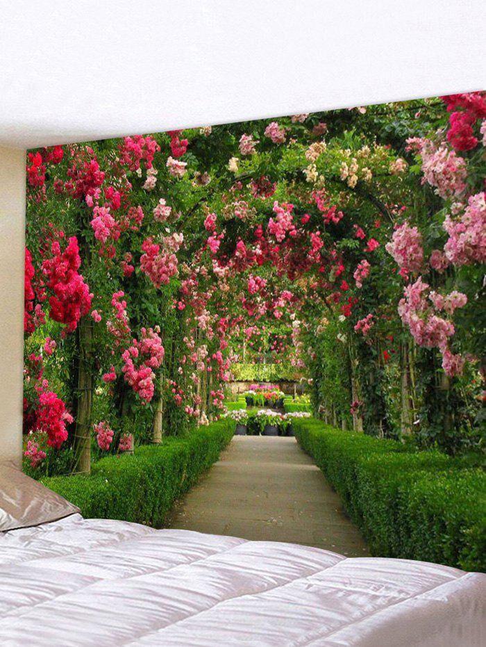 Rosegal Garden Flower Print Waterproof Tapestry
