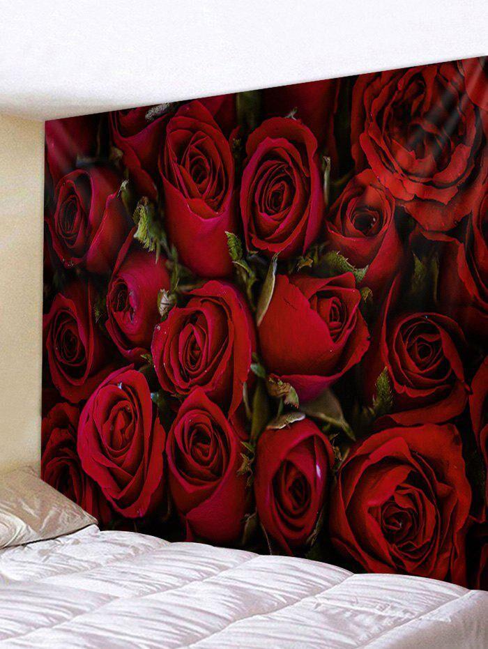 Rosegal Rose Flower 3D Printed Home Wall Tapestry