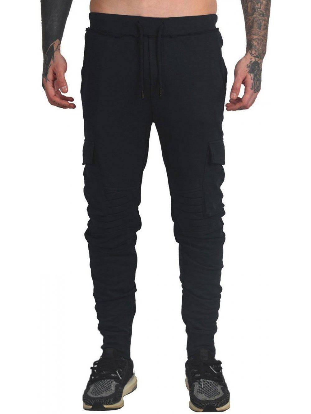 Rosegal Drawstring Ruched Tapered Sports Pants