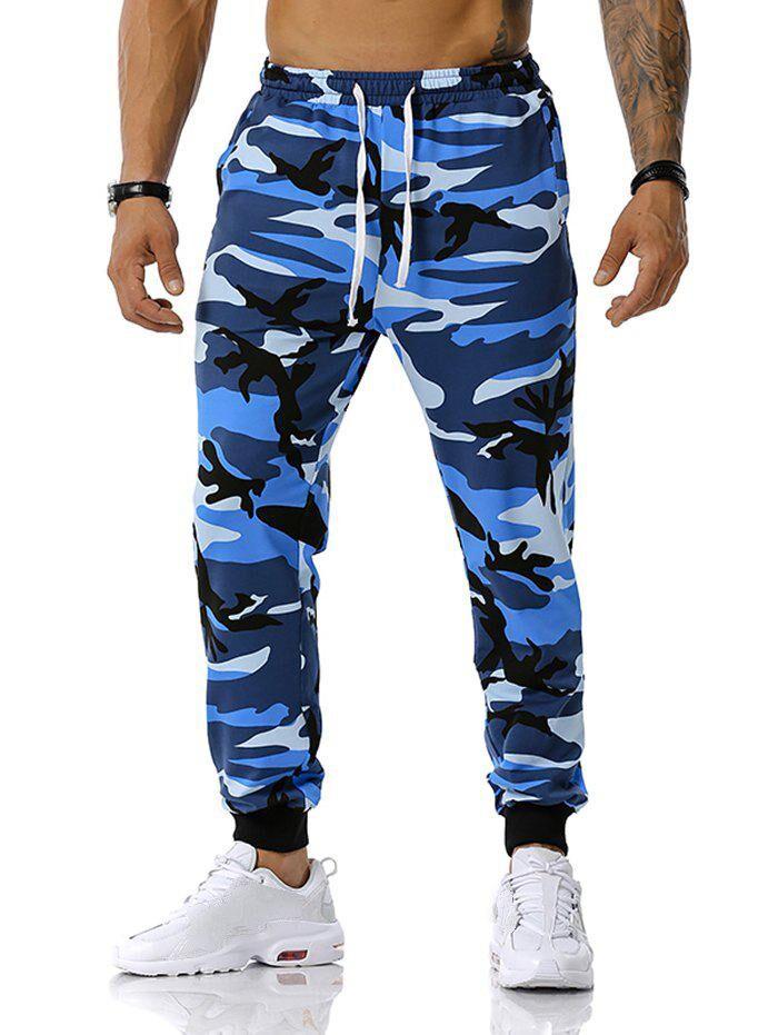 Rosegal Camouflage Pattern Drawstring Sports Pants