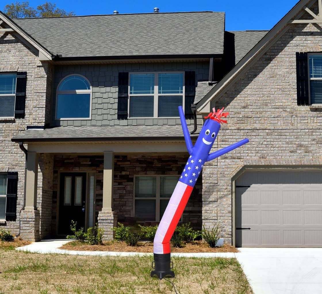 Bannerbuzz American Flag Inflatable Tube Man