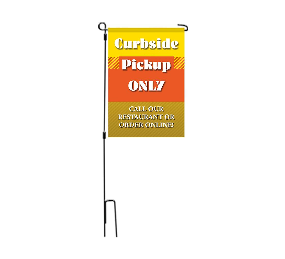 Bannerbuzz Curbside Pick Up Only Garden Flags