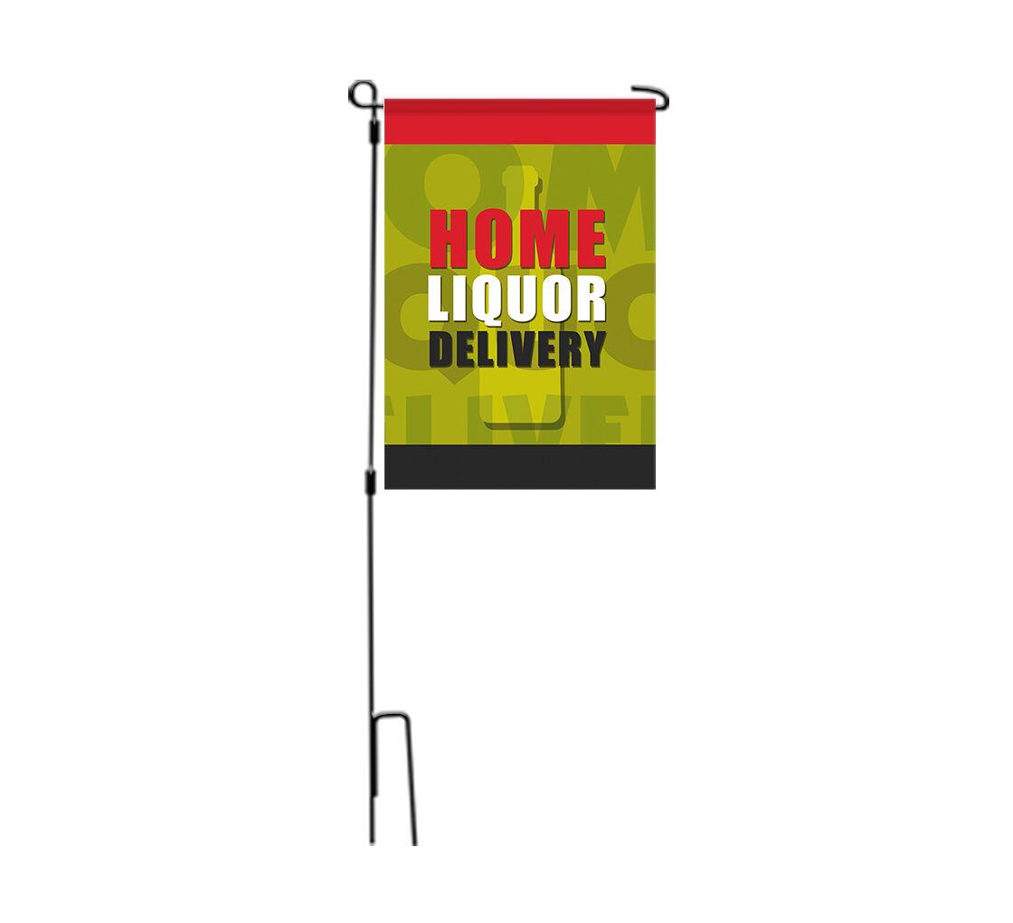 Bannerbuzz Home Liquor Delivery Available Garden Flags
