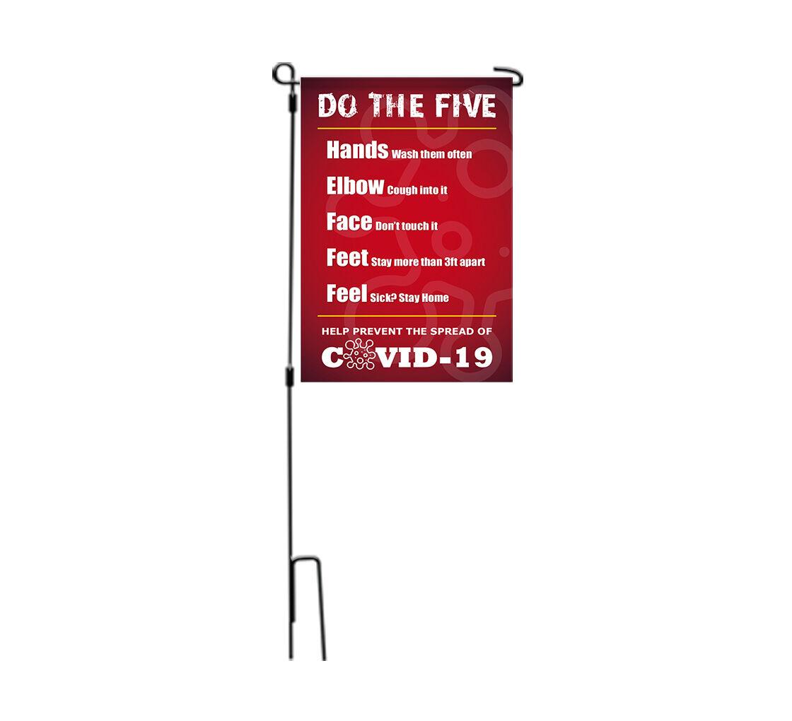 Bannerbuzz Do the Five Help Stop Spread Covid-19 Garden Flags