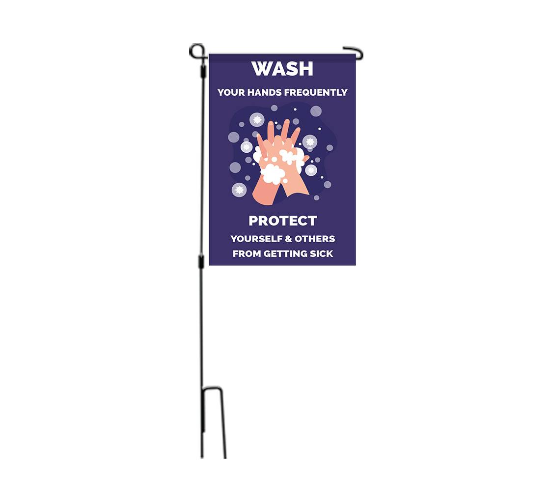 Bannerbuzz Please Wash your Hands Garden Flags