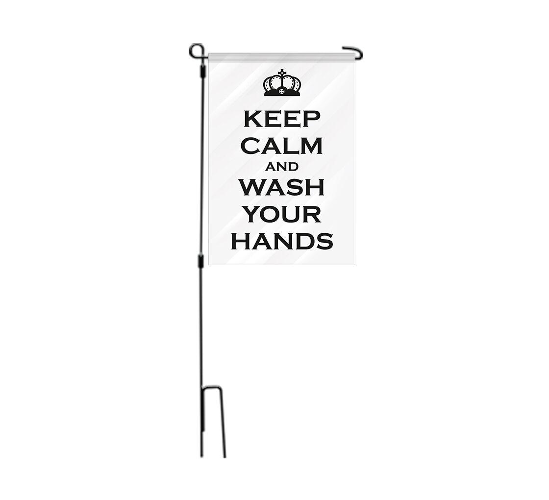 Bannerbuzz Notice Employees Must Wash Hands Garden Flags