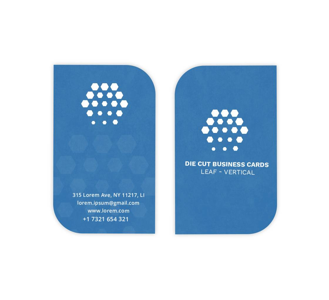 Bannerbuzz Leaf Business Cards - Vertical