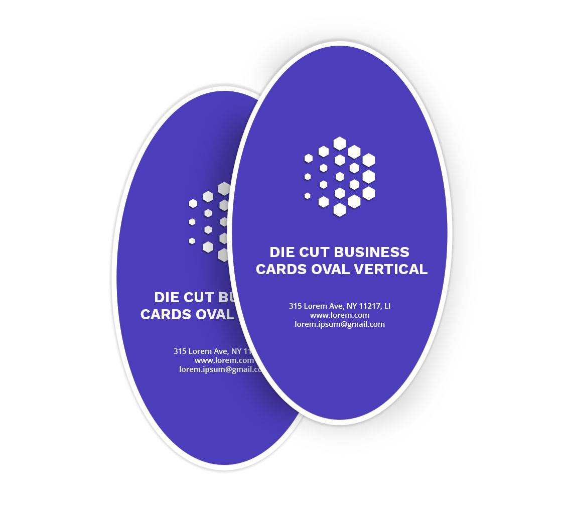Bannerbuzz Oval Business Cards - Vertical