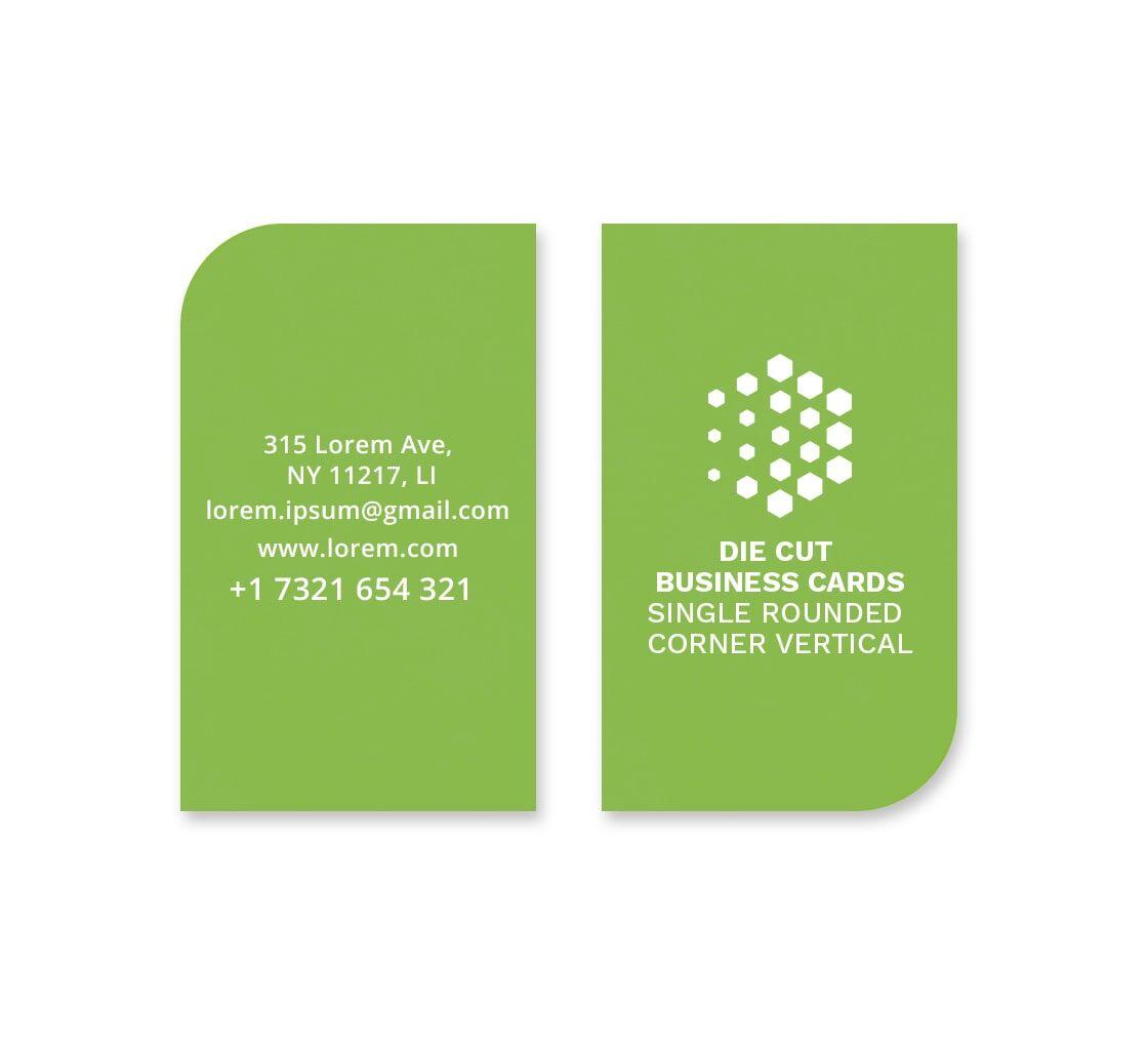 Bannerbuzz Die-Cut Business Cards - Vertical