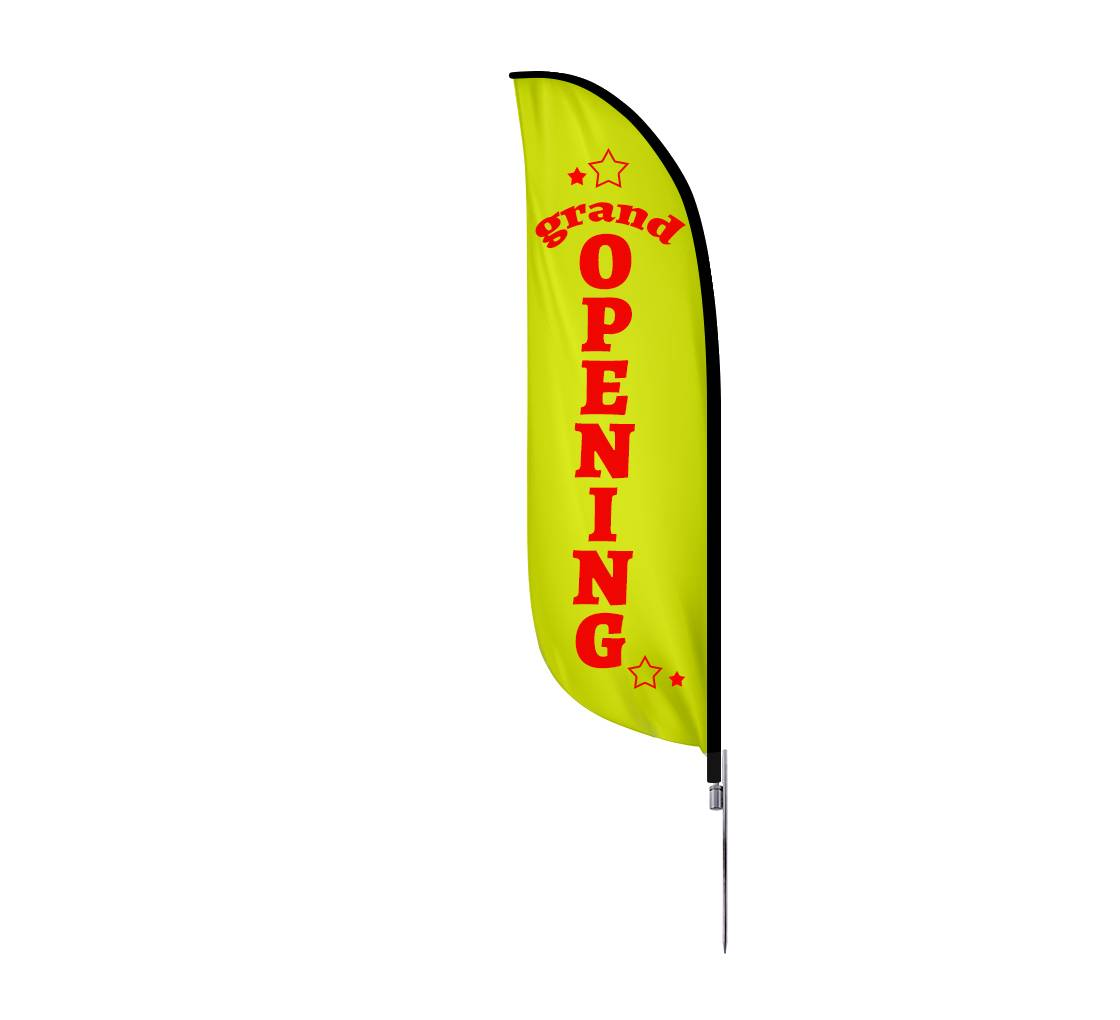 Bannerbuzz Pre-Printed Grand Opening Feather Flag