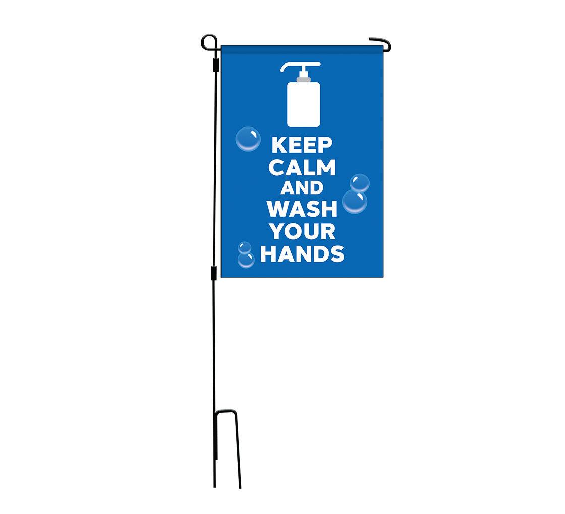 Bannerbuzz Precaution Garden Flags