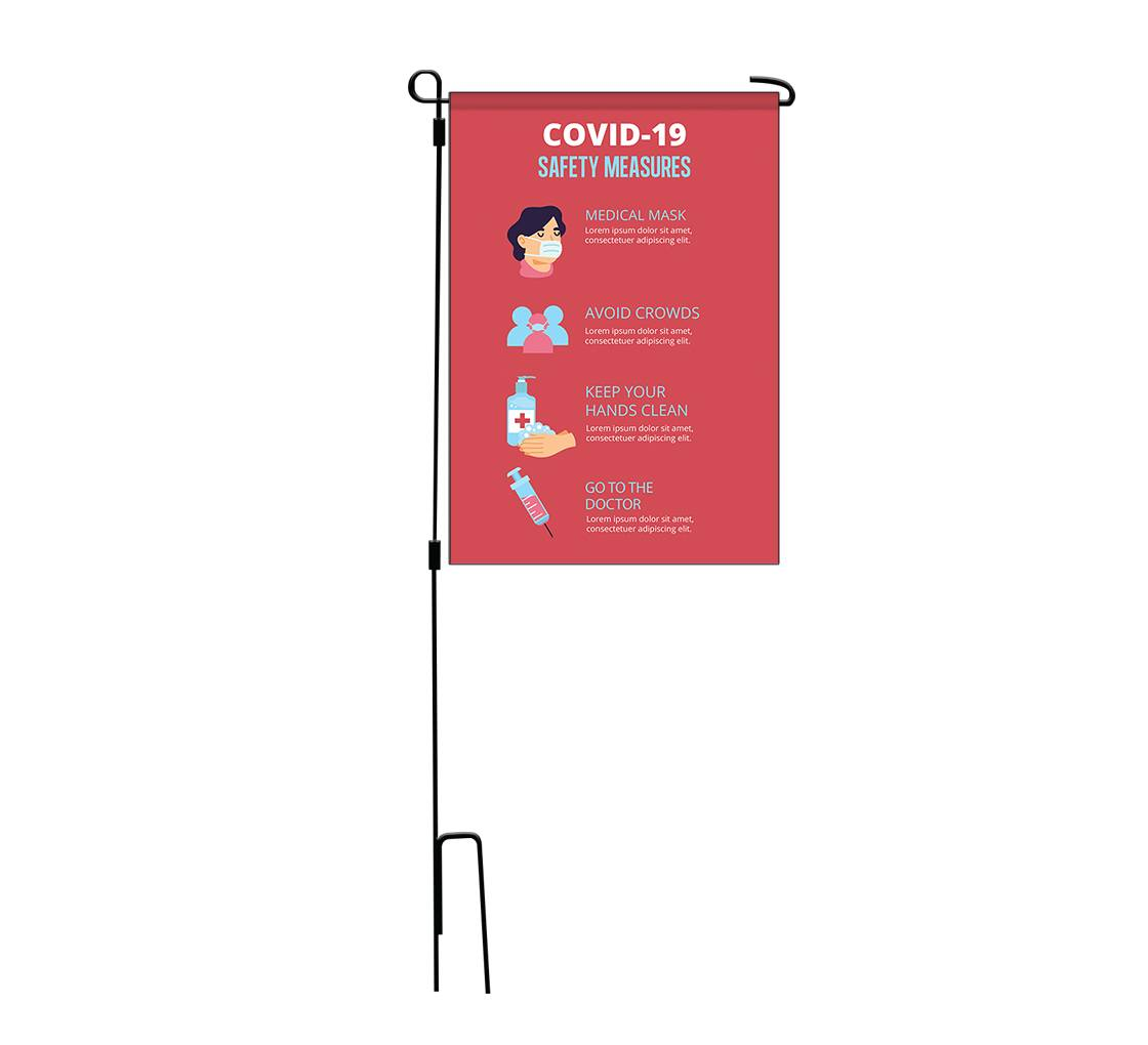 Bannerbuzz Safety Garden Flags