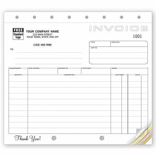 Deluxe for Business Shipping Invoices, Classic Design, Small Format
