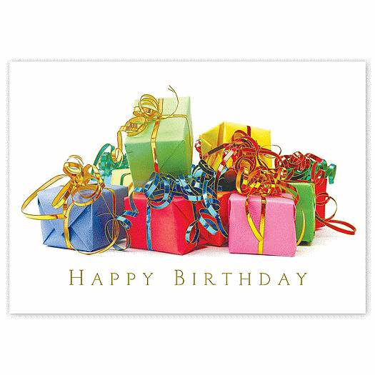 Deluxe for Business Colorful Gifts Happy Birthday Cards