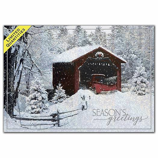 Deluxe for Business Heading Home Holiday Cards