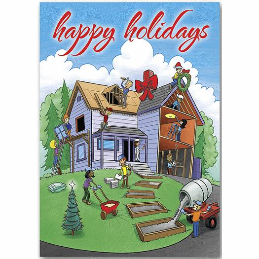 Deluxe for Business Home For The Holidays Contractor & Builder Cards