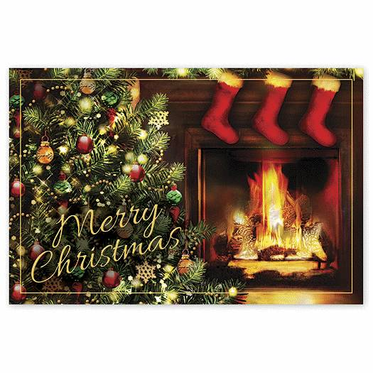 Deluxe for Business No Place Like Home Christmas Postcards