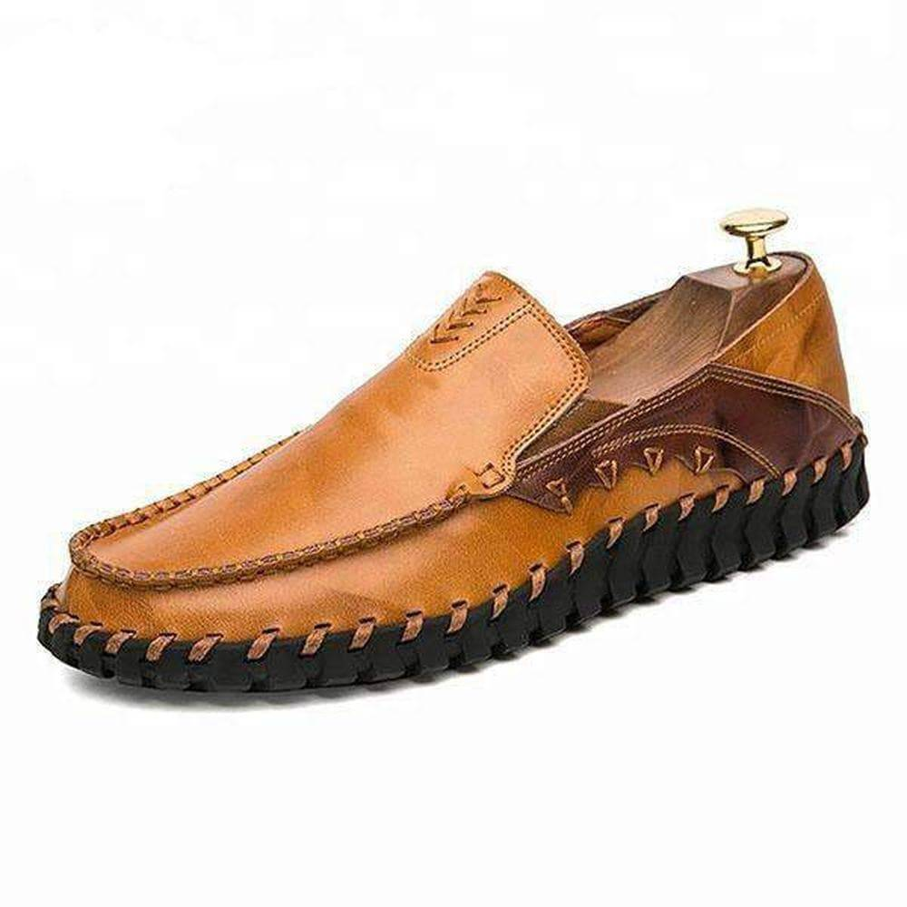 Light Brown Men's Leather Casual Shoes