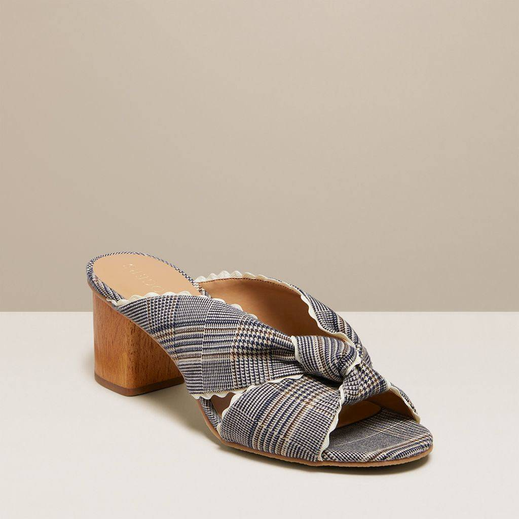 Jack Rogers USA Jack Rogers Holly Plaid Mule  - Midnight/Tan - Female - Size: 9