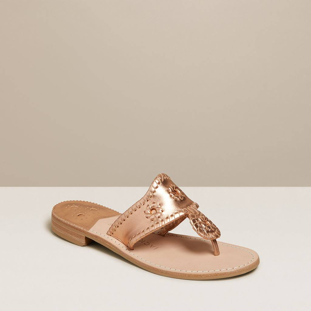 Jack Rogers USA Jack Rogers Jacks Flat Sandal  - Rose Gold - Female - Size: 5