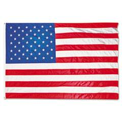 Advantus All-Weather Outdoor U.S. Flag, Heavyweight Nylon, 5 ft x 8 ft