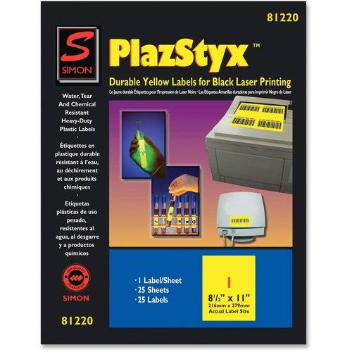 Simon SJ Paper PlazStyx Durable Laser Printing Labels