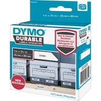 Dymo LW Durable Shelving Labels, 1 x 3 1/2, 100/Roll