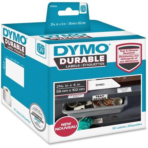 Dymo LW Durable Labels, 2 5/16 x 4, 50/Roll