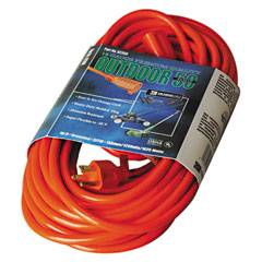 CCI Vinyl Outdoor Extension Cord, 50ft, 13 Amp, Orange