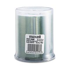 Maxell CD-R Discs, 700MB/80 min, 48x, Spindle, Printable Matte Silver, 100/Pack