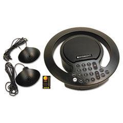 Spracht Aura SoHo Plus Conference Phone, 3 Built-In/2 External Microphones, Black